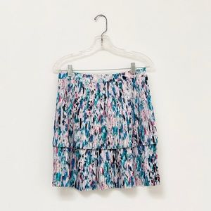 Jcrew Floral Watercolor Tiered Skirt / 4